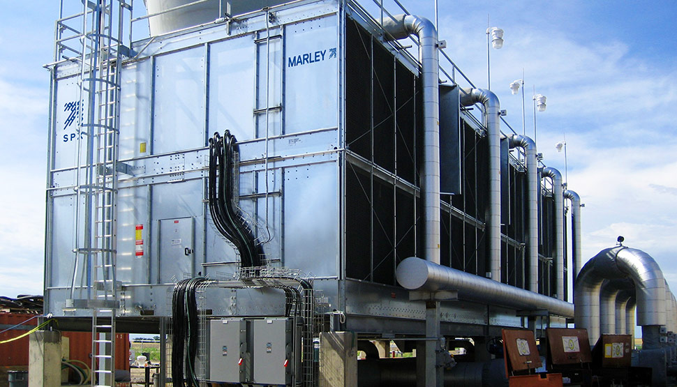 FM Approved multi-cell Marley® cooling tower from SPX Cooling Technologies, Inc.