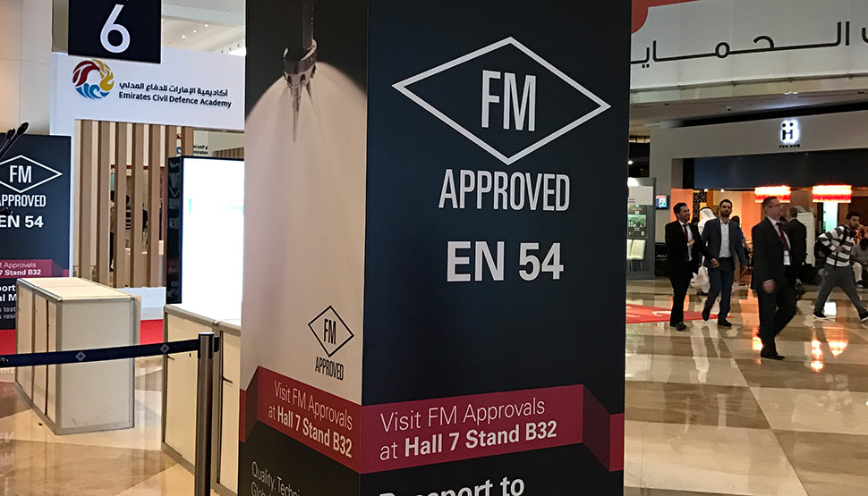 FM Approvals EN54 product certification authority was a visible presence at Intersec